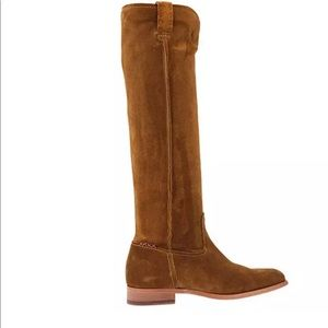 NEW Frye Cara Tall Wheat Brown Suede  Boots Size:6